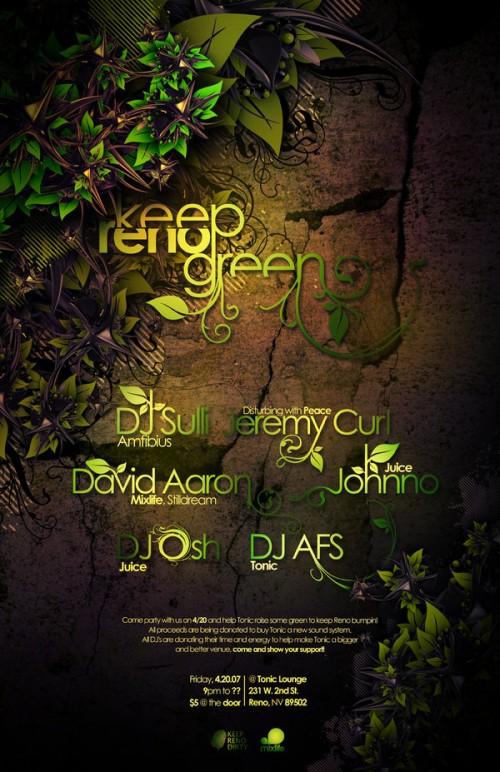 13_Keep Reno Green Poster