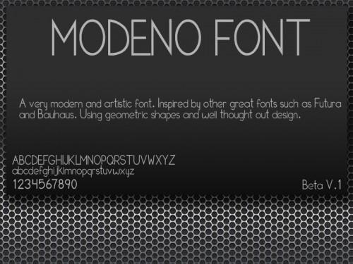 16_Modeno Font