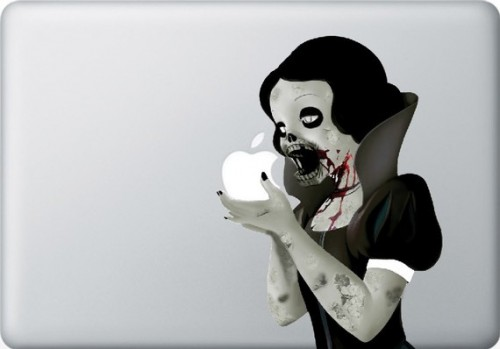 1_Zombie Princess Decal for 13inch MAC Book - Sticker Vinyl