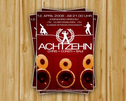 25_Flyer Achtzehn Party