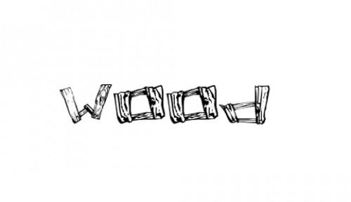 28_Wood 2 Font