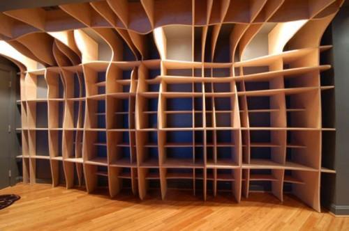 2_Digitally Fabricated Bookshelf by dbd Studio