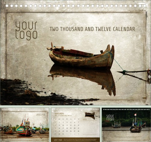 2_Free Calendar - The Brown Boat