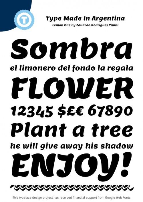 31_Lemon - Free Google Web Font