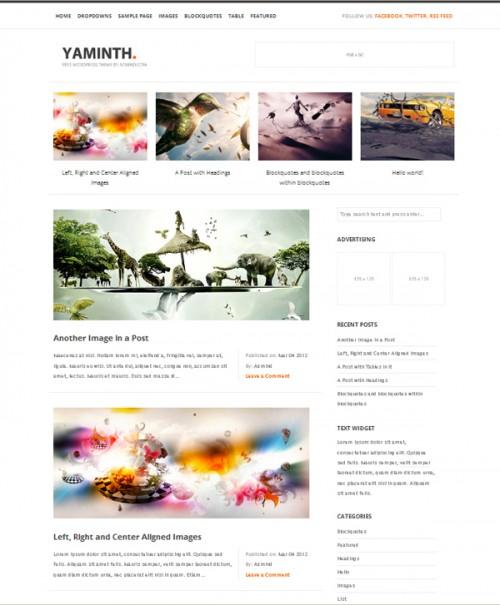 3_Free WordPress Theme – YAMINTH