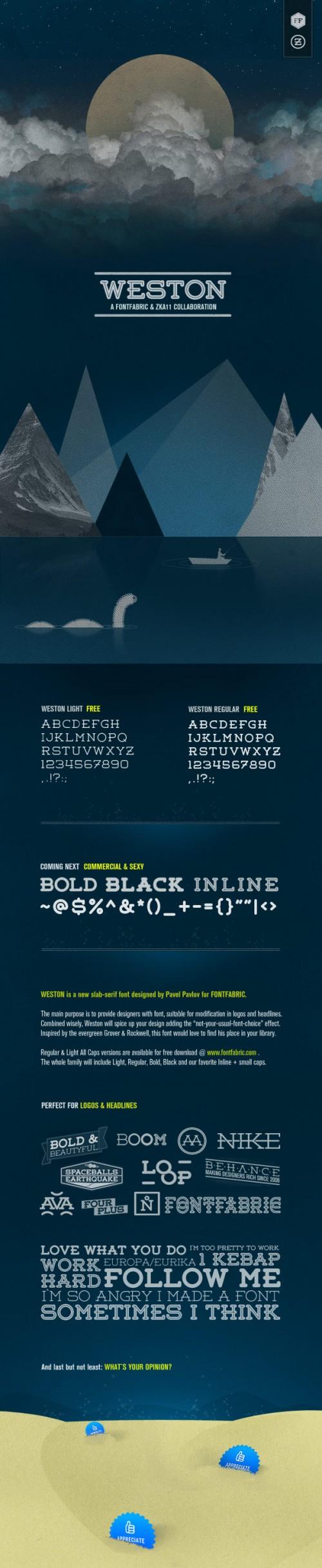 3_Weston Free Font