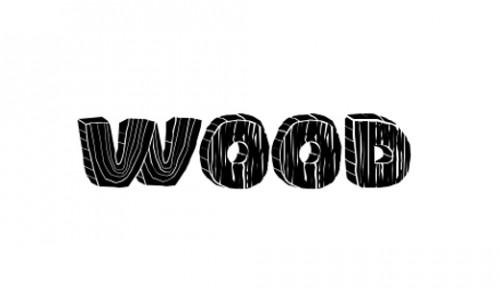 4_Wood Font