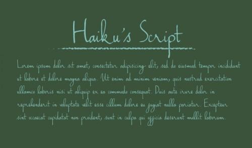 52_Handwriting - Haiku's Script Font