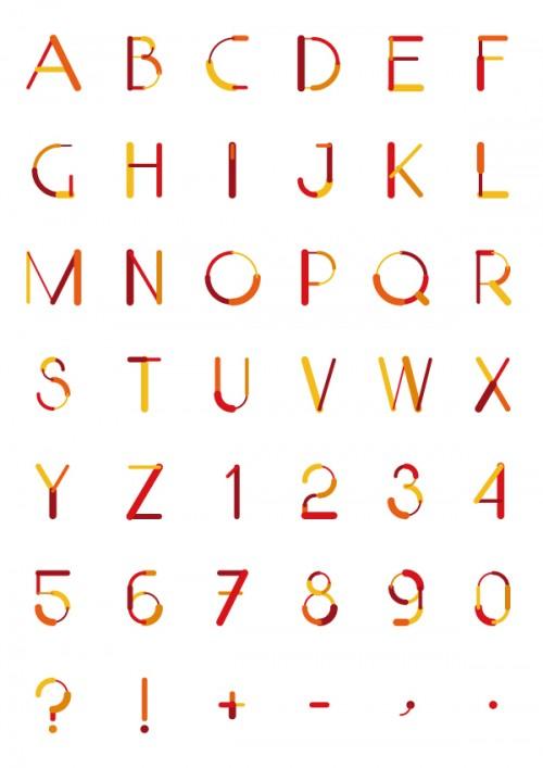5_Color Lines Free Font