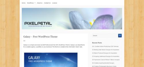 5_Galaxy – Free WordPress Theme