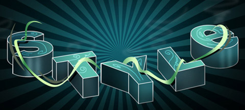 6_Funky 3D Style Letters