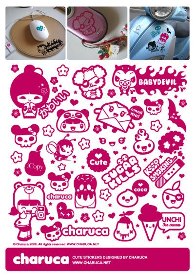 9_Charuca Stickers Para Myvinilo