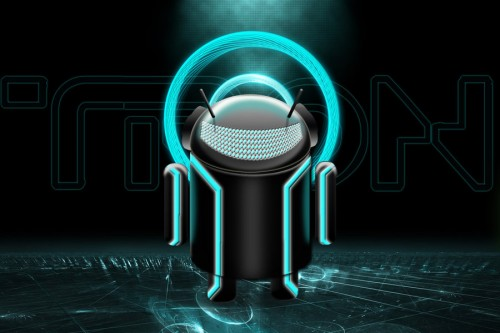 18_Tron Android - Large Cyan