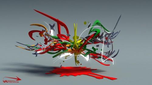 21_3D Graffiti Sketch 70
