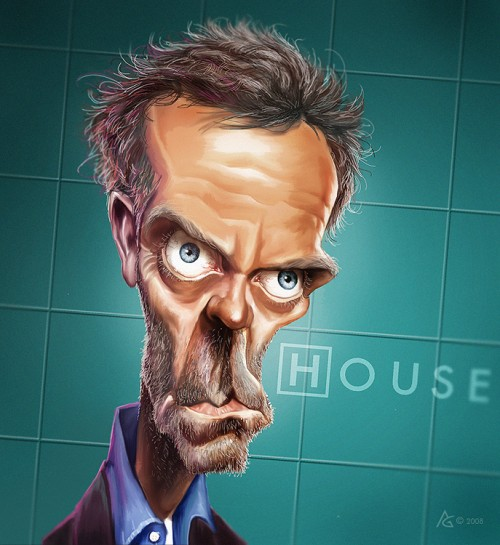 23_Caricature Dr House