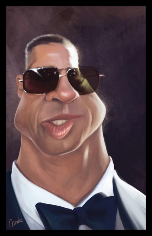 35_Brad Pitt Caricature
