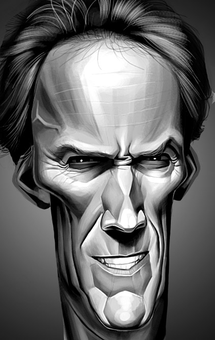 8_Clint Eastwood Caricature