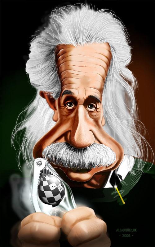 9_Caricature Albert Einstein