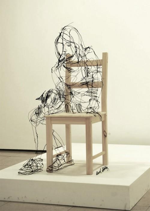 1_Wire Sculptures by David Oliveira