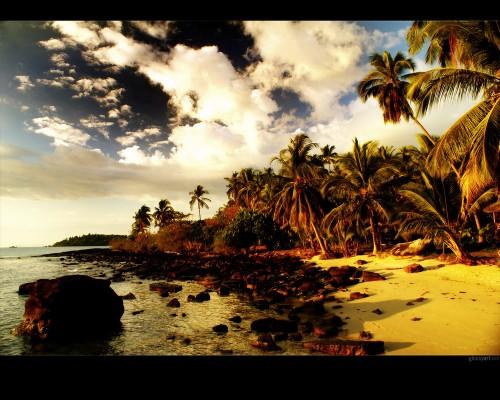20_Beach Sunset Wallpaper