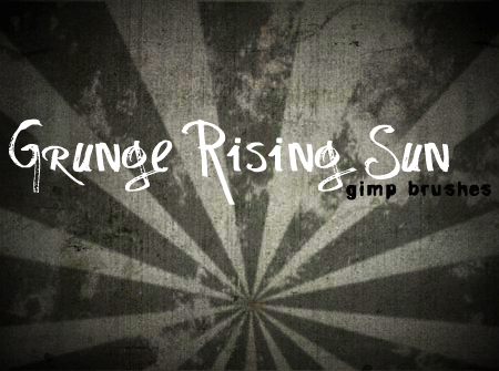 26_Grunge Rising Sun GIMP Brushes