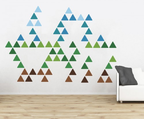 2_Triangle Pattern Wall Stickers