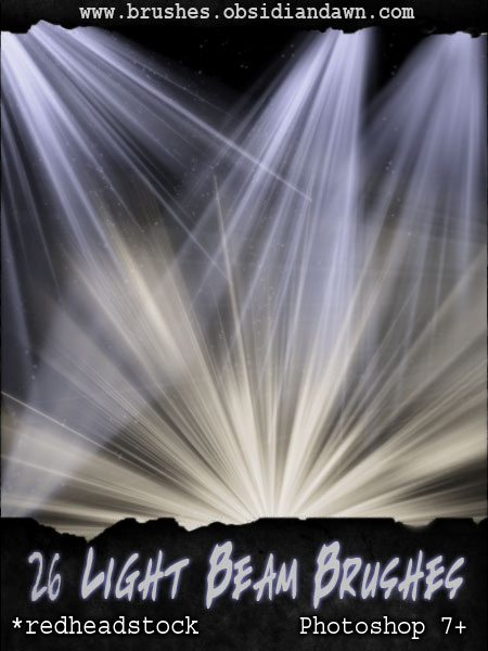 40_Light Beam Brushes - GIMP