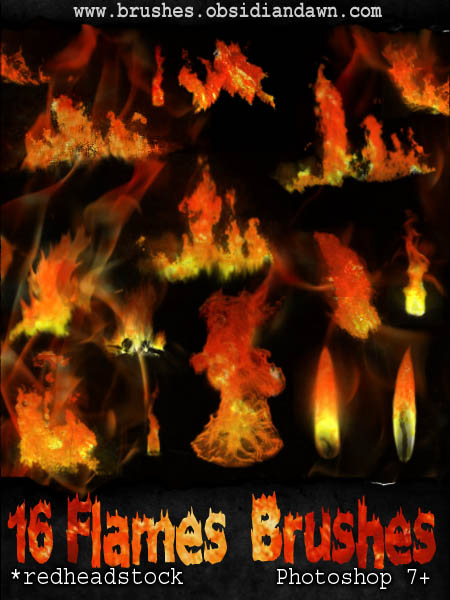 60_GIMP Flames Brushes