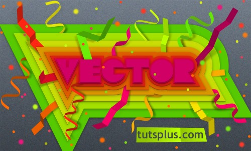 12_Create Colorful, Layered Paper Type in Illustrator