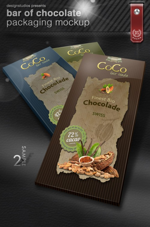 17_Bar Of Chocolate Packaging Mock-Up