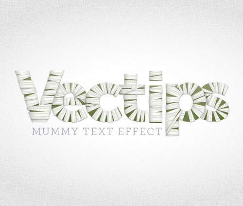 18_Create a Mummy Text Effect