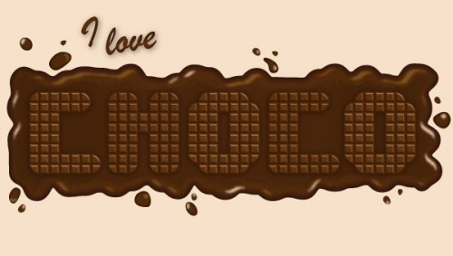 38_How to Create a Delicious Chocolate Text Effect