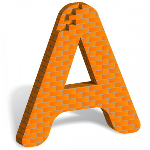3_How to Build Letter Art From Bricks In Illustrator