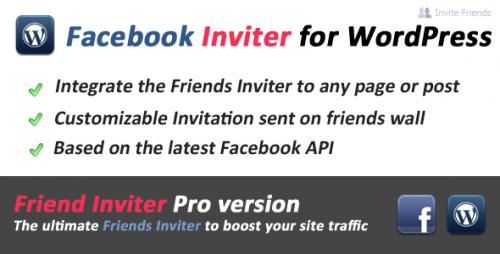 11_Facebook Friends Inviter for WordPress
