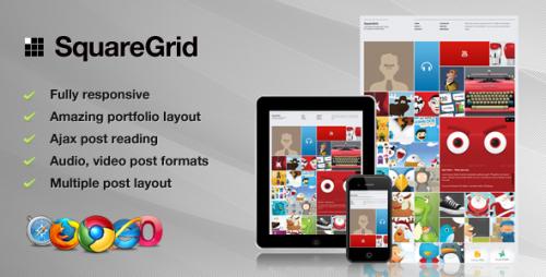 15_SquareGrid - Fully Responsive Theme For Portfolio