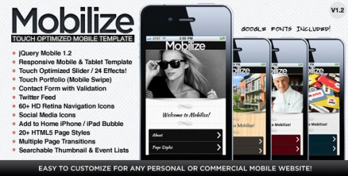 17_Mobilize - Touch Optimized Mobile Template