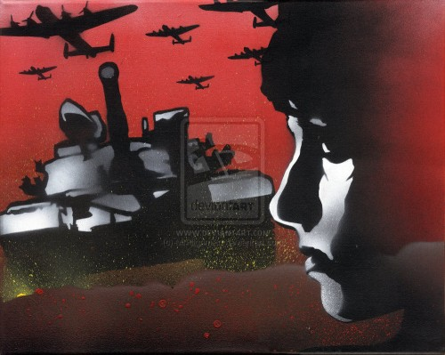 18_War Girl - Canvas Graffiti Art
