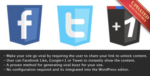 5_Viral Lock - Like, Google+1 or Tweet to Unlock