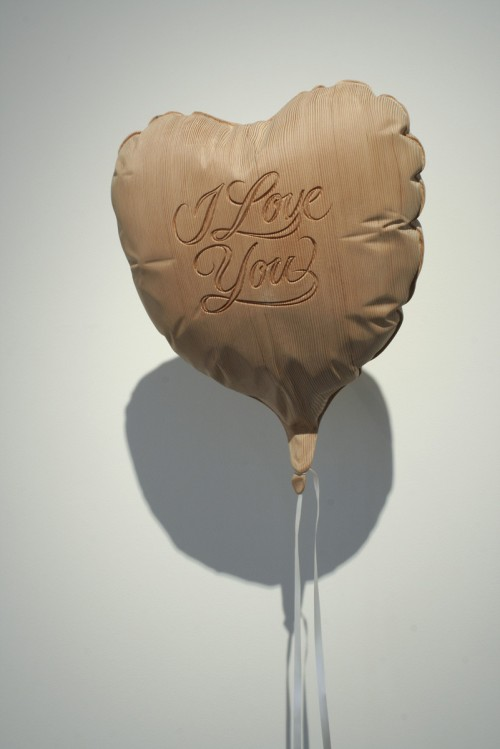 9_I Love You - Carved Fir, Ribbon, Steel