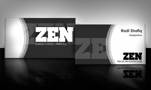 10_Zen Business Card Black