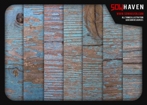12_Weathered Blue Wood Textures