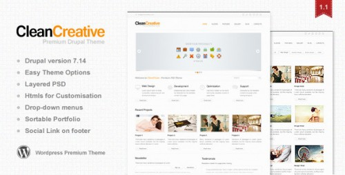 18_Clean Creative - Clean, Minimal WordPress Theme