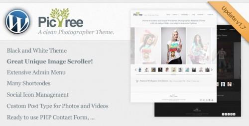 19_PicTree - A Clean Photographer Wordpress Theme