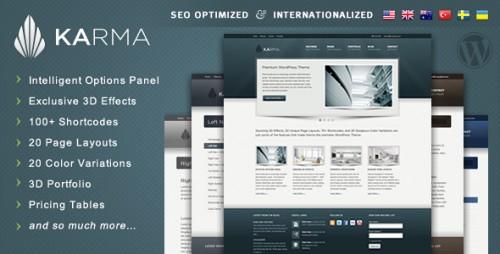 1_Karma - Clean and Modern Wordpress Theme