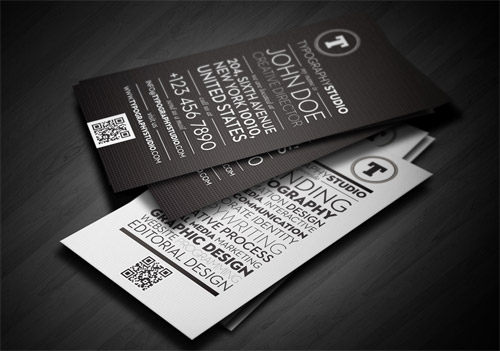 21_Typography Studio Business Card