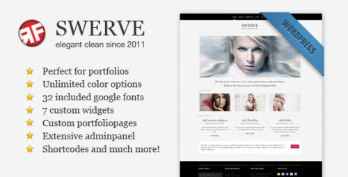23_Swerve - Clean Portfolio Wordpress Theme