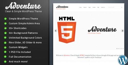 31_Adventure - Clean & Simple WordPress Theme