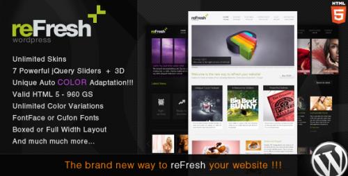 38_reFresh - Powerful Clean & Elegant WordPress Theme