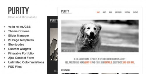 3_Purity - Clean, Minimal & Bold WordPress Theme