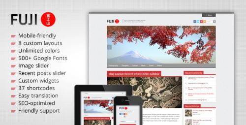 45_Fuji - Clean Responsive WordPress Theme